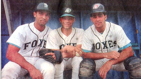 L to R: Raul Ibanez, Ivan Montane, Jose Cuellar.  Teammates on the 1994 Appleton Foxes with Cuban roots.