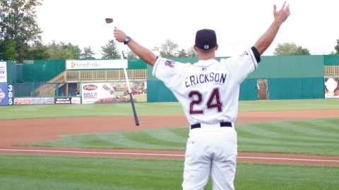 This is about how Matt Erickson felt when he was named the new manager of the Timber Rattlers.