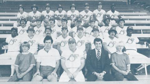 The team photo of the 1978 Appleton Foxes.