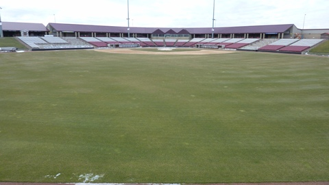Very little snow on the field with 87 days until Opening Day. Let's hope it stays that way.