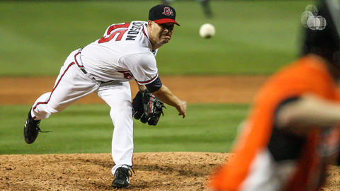 Tim Hudson induced eight ground ball outs in Wednesday's game.