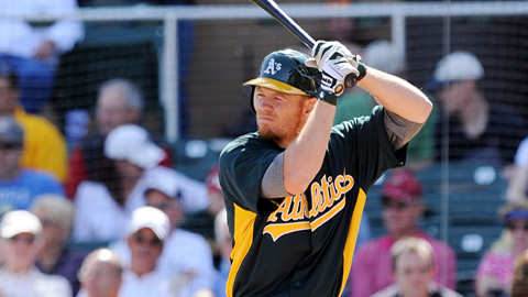 Brandon Moss is hitting .359 in 16 games with Sacramento this season.