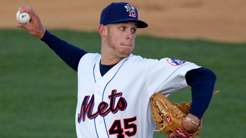 Zack Wheeler leads the Eastern League with 30 strikeouts.